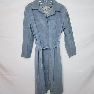 Vintage suede trench coat